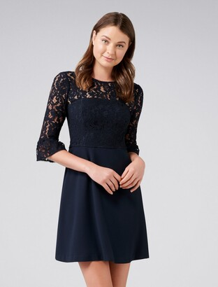 Forever New Lucinda Lace Bodice Dress - Nomadic Navy - 6