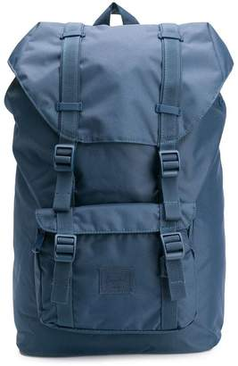 Herschel navy buckled backpack