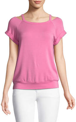 Bailey 44 Forget Me Not Cold-Shoulder Top