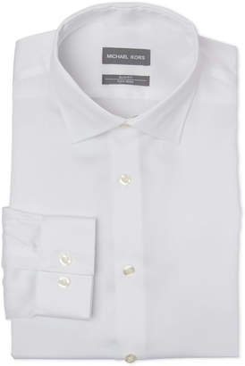 Michael Kors White Slim Fit Dress Shirt
