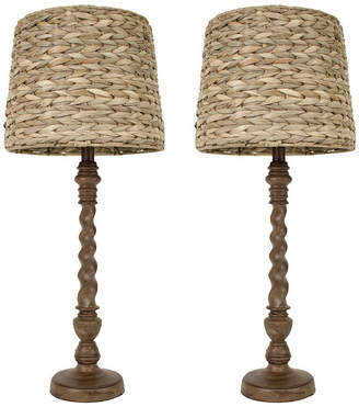 J. Hunt JHUNT HOME Dcor Therapy Darkbo Lamps- Set of 2