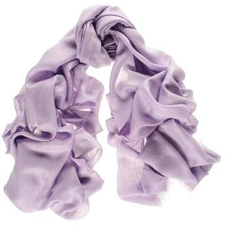 Black Pastel Lilac Cashmere and Silk Wrap