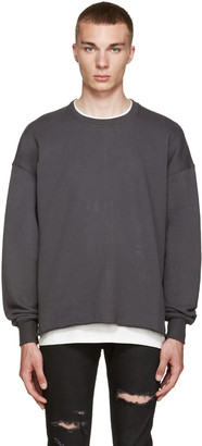 Fear of God Grey Crewneck Pullover $395 thestylecure.com
