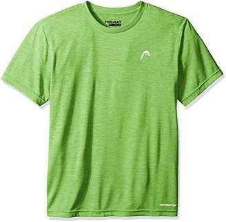 Head Men's Space Dye Hypertek Crewneck Gym Training & Workout T-Shirt - Short Sleeve Activewear Top