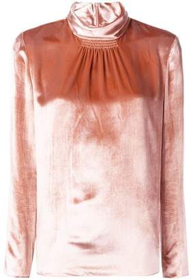 RED Valentino gathered roll-neck blouse