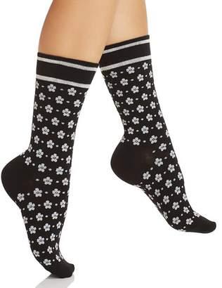 Kate Spade Floral Bandana Crew Socks