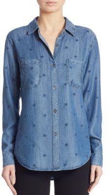Rails Carter Star-Print Chambray Shirt $148 thestylecure.com