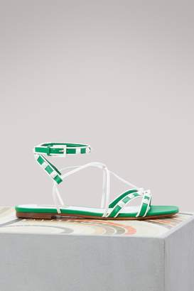 Valentino Free Rockstud flat sandals