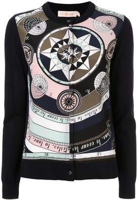 Tory Burch printed button cardigan