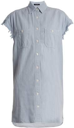 R 13 Oversized cotton-chambray shirt