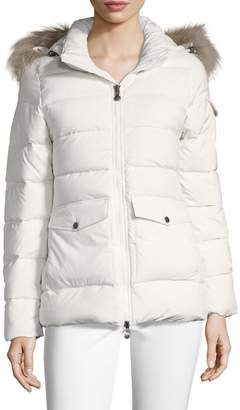 Pyrenex Women's Authentic Asiatic Raccoon Fur-Trimmed Quilted Jacket