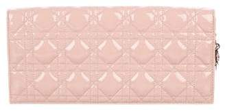 Christian Dior Patent Leather Cannage Clutch