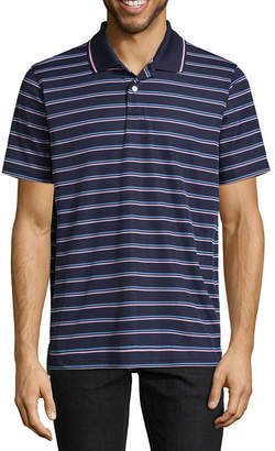 ST. JOHN'S BAY Quick Dry Short Sleeve Stripe Polo Shirt