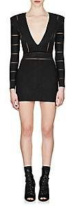 Balmain Women's Metallic V-Neck Dress - Black