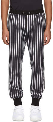Dolce & Gabbana Black and White Striped Lounge Pants