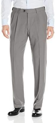 Haggar Men's ECLO Glen Plaid Classic-Fit Pleat-Front Pant