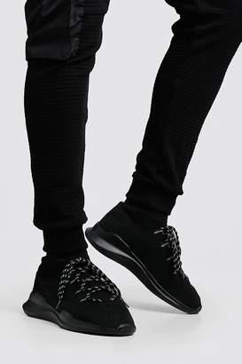 boohoo Knitted Sock MAN Trainer