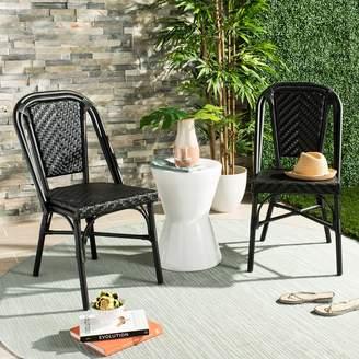 Safavieh Black Indoor / Outdoor Stacking Wicker Chair 2-piece Set
