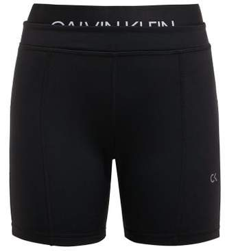 Calvin Klein Double Waist Cycling Shorts - Womens - Black