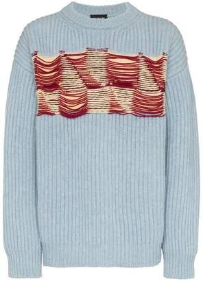 Calvin Klein embroidered front wool jumper