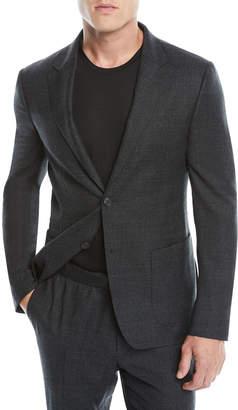 Ermenegildo Zegna Men's Micro-Check Two-Piece Wash/Go Suit