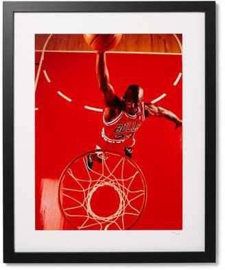 Sonic Editions Framed Michael Jordan, Red Dunk Giclée Print 17 X 21