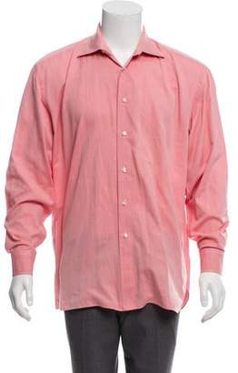 Borrelli Chambray Button-Up Shirt