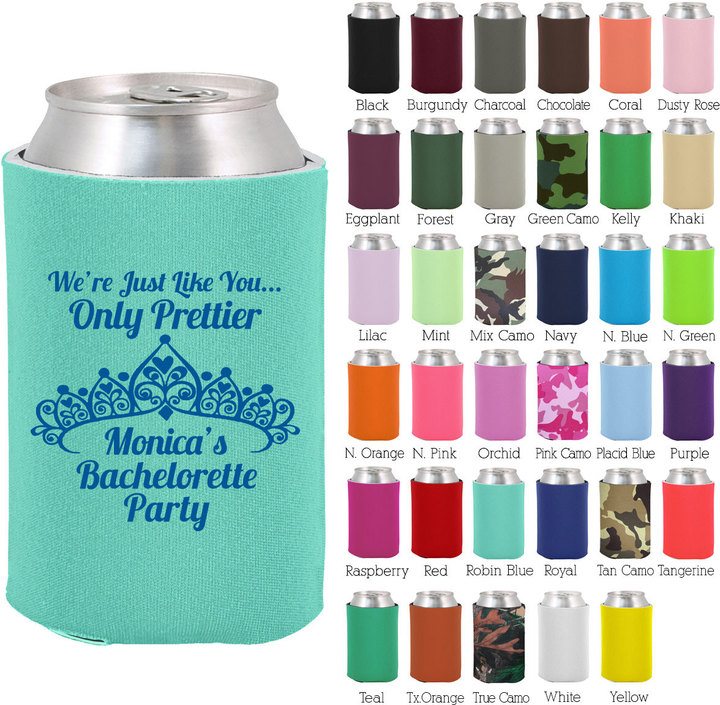 Etsy Bachelorette Can Coolers (6096) Crown - Bachelorette Favors - Bachelor Party Favors - Bachelorette C