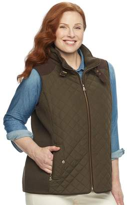 Gallery Plus Size Quilted Ribbed Vest