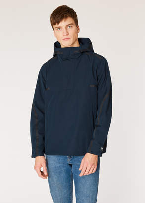 Paul Smith Men's Navy Half-Zip Showerproof Poly-Cotton Anorak