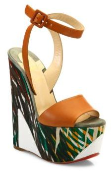Christian Louboutin  Christian Louboutin Tromploia Jungle Wedge Platform Sandals