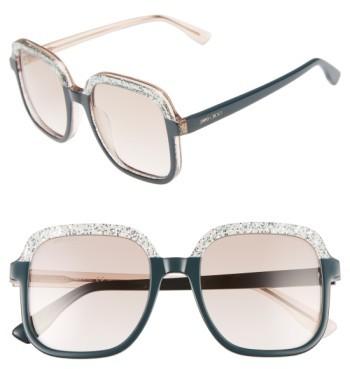 Jimmy ChooWomen's Jimmy Choo 53Mm Glitter Frame Sunglasses - Black Glitter/ Grey
