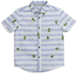 Sovereign Code Boys' Striped Palm Tree Short-Sleeve Shirt - Big Kid