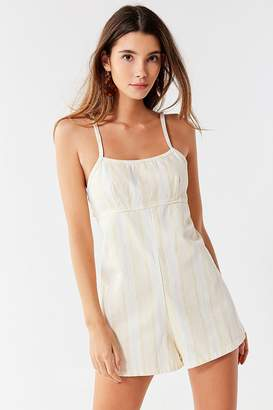 Urban Outfitters Empire Waist Denim Romper