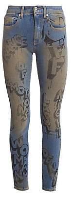 Off-White Women's Graffiti Skinny Jeans
