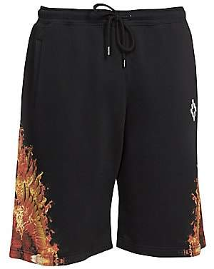 Marcelo Burlon County of Milan Men's Flame Wing Cotton Shorts
