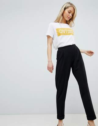 Miss Selfridge Turn Up Tapered Pants