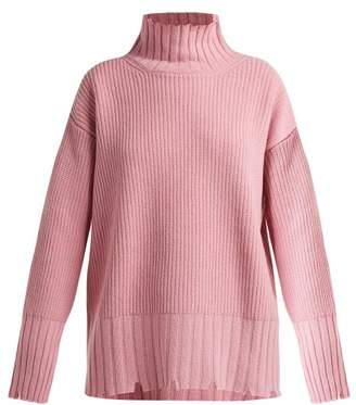 MSGM Distressed Wool Blend Sweater - Womens - Light Pink