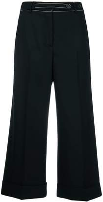Ermanno Scervino topstitch trousers