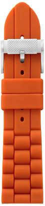 Fossil 24mm Dark Orange Silicone Watch Strap
