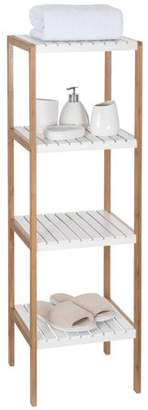 Ollieroo Bamboo Utility Shelves Bathroom Rack Plant Display Stand Multifunctional Shelving Unit (4 Tier)