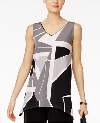 Alfani Colorblocked Handkerchief-Hem Top, Only at Macy's $49.50 thestylecure.com