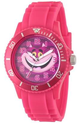 Disney Alice in Wonder Land Cheshire Cat Women's Pink Plastic Watch, Pink Bezel, Pink Plastic Strap