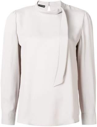 Emporio Armani tied neckline blouse