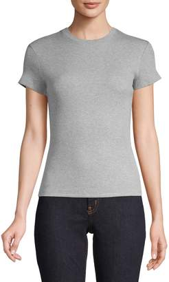 Theory Ribbed Cotton Blend Tee