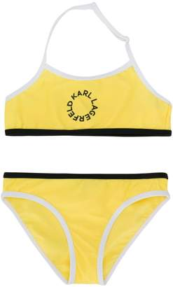 Karl Lagerfeld Paris round logo bikini