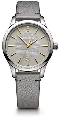 Victorinox Women's 'Alliance' Swiss Quartz Stainless Steel and Leather Casual Watch