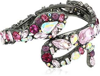 Betsey Johnson GBG) Fairy Forest Stone Snake Hinged Bangle Bracelet