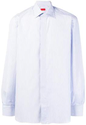 Isaia pinstripe button-down shirt