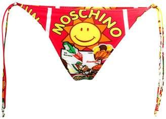 Moschino Flash Swim Print String Bikini Bottoms